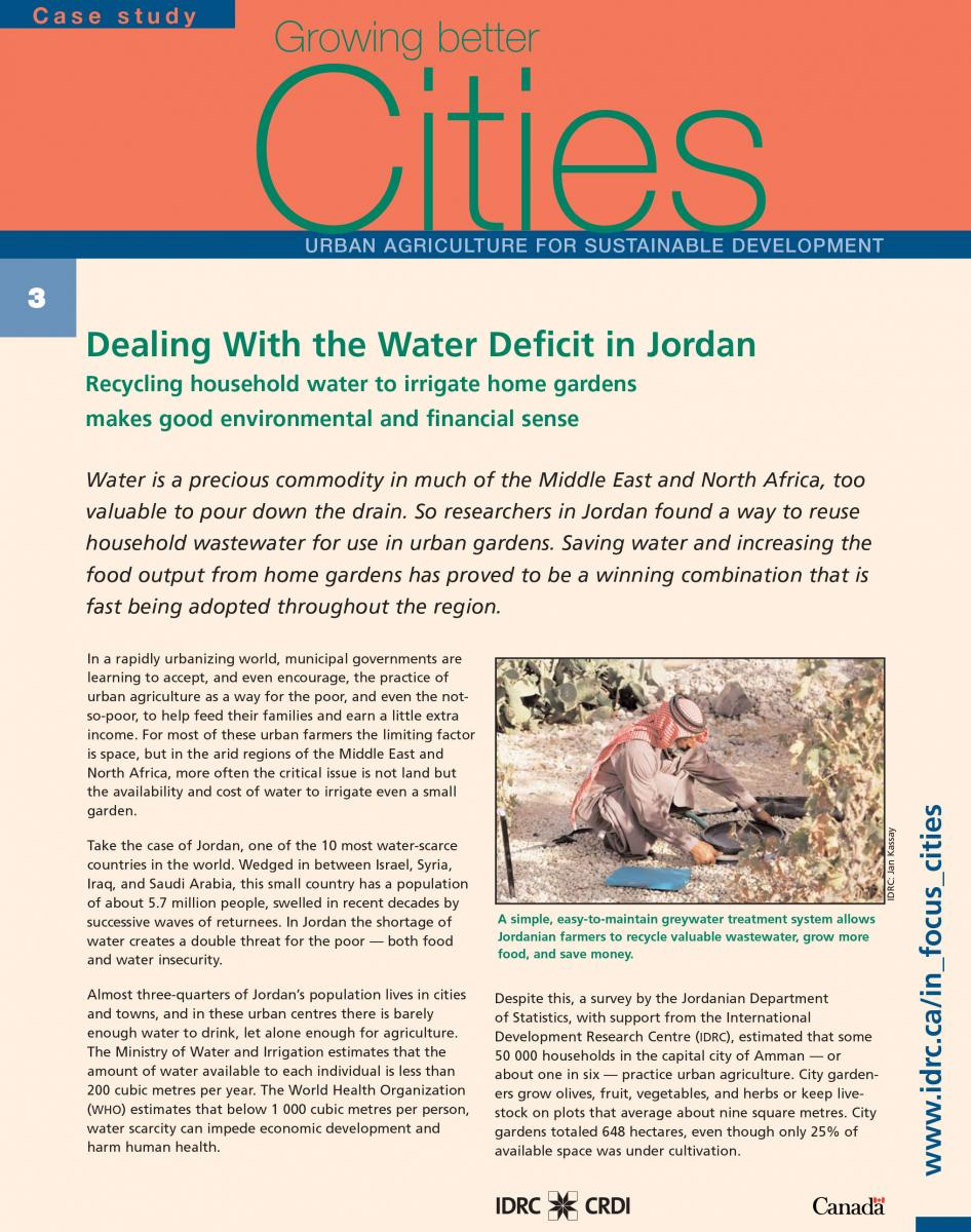 Dealing With the Water Deficit in Jordan