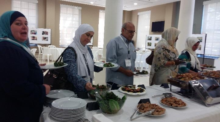 Lunch break during Da'am workshop - Food prepared by the Food Heritage Foundation