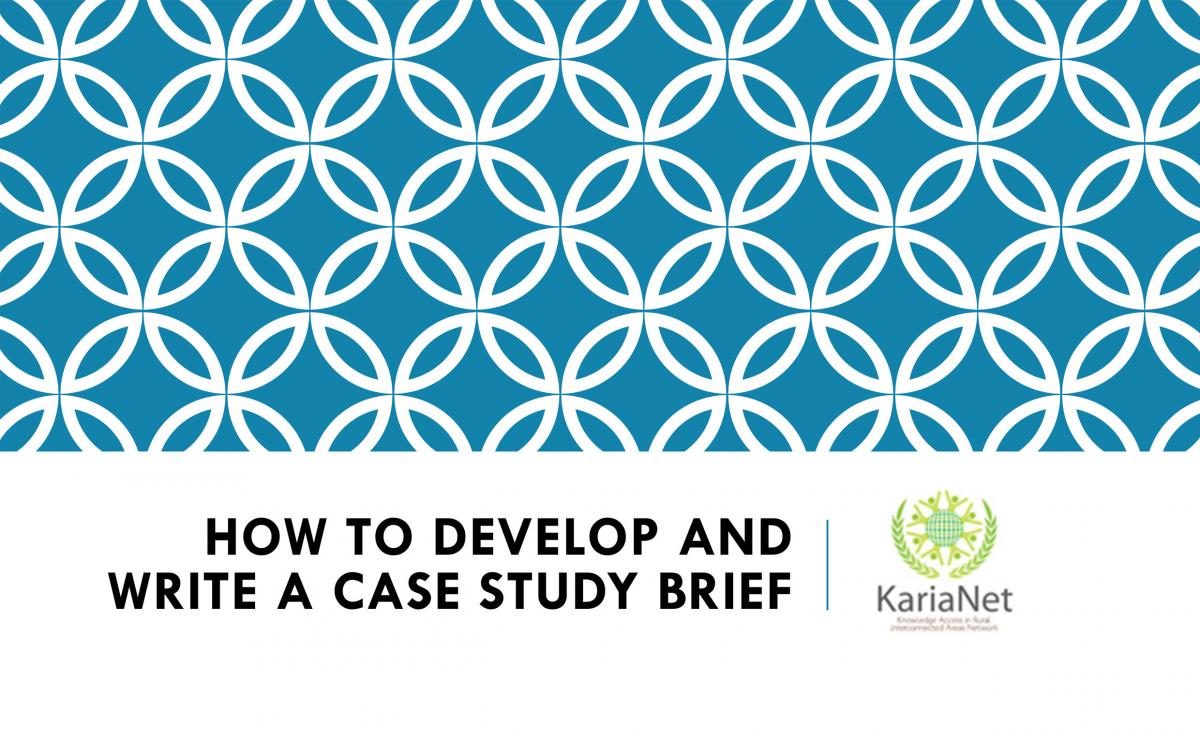How to Write a Case Study